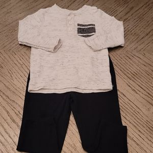 24 month boys long sleeve shirt and pants.